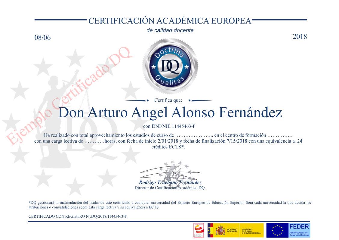 Certificado Doctrina Qualitas TOP aul@